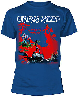 URIAH HEEP The Magician's Birthday Blue T-SHIRT OFFICIAL MERCHANDISE