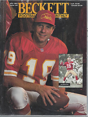 Joe Montana Collectors Lot Beckett Price Guide July, 1993 & Sports Illustrated