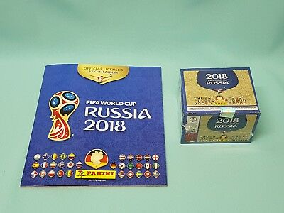 Panini WM 2018 Russia World Cup Sticker Album + 1 x Display / 100 Tüten