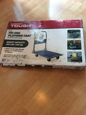 Hyper Tough 300-lb Capacity Folding Platform Cart Moving Cartwheel Easy Storage