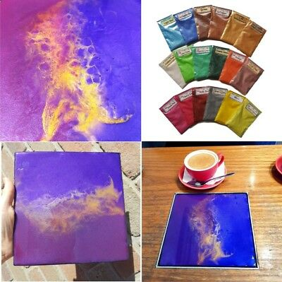 RESIN ART MICA / SHIMMER POWDER: Soap, Canvas, Make Up, Nail Art, Jewellery
