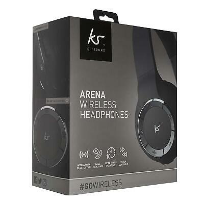 Kitsound Arena Wireless Bluetooth Headphones with Mic and Controls Genuine - NEW
