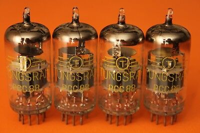 Tungsram PCC88 7DJ8 audio tube - MATCHED QUAD - NOS - ( ECC88 E88CC 6DJ8 6922 )