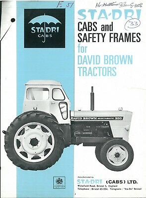 Sta-Dri Cabs & Safety Frames for David Brown Tractors Brochure