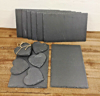 16 Piece Slate 8 Placemats & 8 Coasters Set Tablemat Place Mat Dinner Drinks New