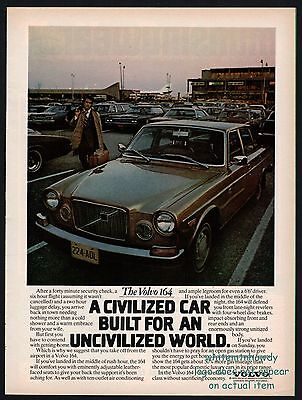 1974 VOLVO 164 Photo AD Civilized Car for an Uncivilized World