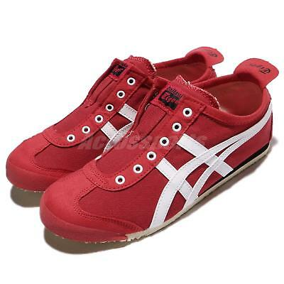 best sneakers c2fe3 4a8d2 ASICS ONITSUKA TIGER Mexico 66 Slip-On Red White Men Shoes Sneakers  D3K0N-2301