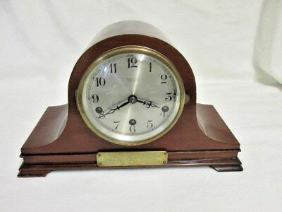 An Early  20th Century Napoleon German Mahogany Westminster Quarter Chime Mantel