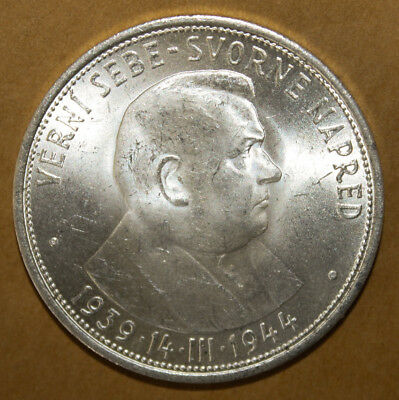 Slovakia 50 Korun 1944 Brilliant Uncirculated Silver Coin - First President