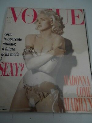VOGUE  Italia / February 1991 / MADONNA Cover/Feature / Scarce COLLECTORS COPY
