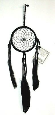 "Authentic Native American Dreamcatcher Navajo 3"" ALL BLACK #06 Free shipping"