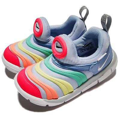 the best attitude 7cb68 2f422 Nike Dynamo Free TD Royal Tint Rainbow Toddler Infant Baby Shoes 343938-425