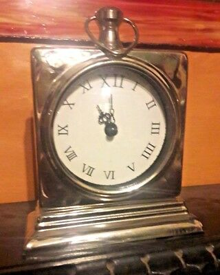 REPRODUCTION MANTLE / SIDE CLOCK - METAL & GLASS CLOCK  - 7  inch