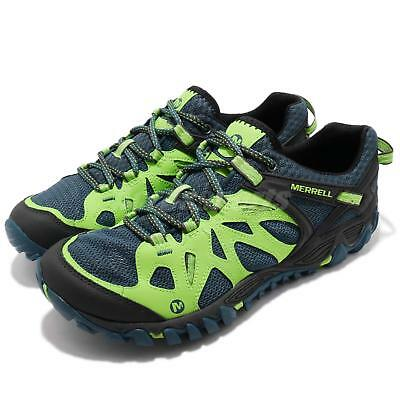41f528038f Merrell All Out Blaze Aero Sport Green Blue Men Outdoors Hiking Shoes J35577