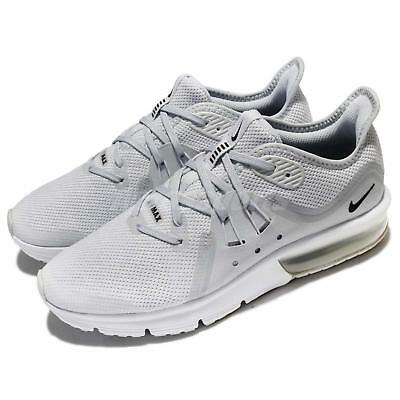 low priced 5ff93 b4f1c Nike Air Max Sequent 3 GS III Pure Platinum White Kids Women Running  922884-005