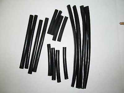 Black PVC Sleeve Wiring Protector, wiring harness, loom PRE-CUT Tubes in 4 sizes
