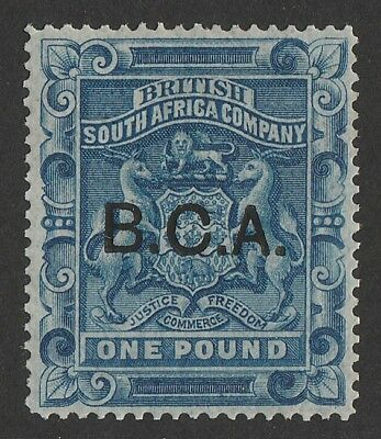 BRITISH CENTRAL AFRICA 1891 BCA on Arms £1. RARE GENUINE!