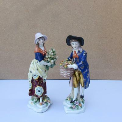 FINE PAIR OF ANTIQUE 19thC FRENCH SMSON PARIS PORCELAIN FIGURES - MAN AND WOMAN