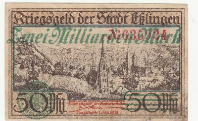 053 Eßlingen, 2Md.Mark, 1923, Überdruck