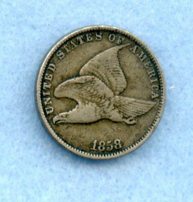 1858 Small Letters ~ Flying Eagle Cent ~ Vf
