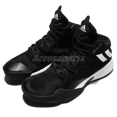 detailed pictures 74621 56efb adidas Dual Threat 2017 J Black White Kids Women Junior Basketball Shoes  BY4442