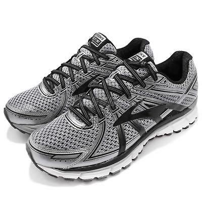 7bfac529317f5 Brooks Adrenaline GTS 17 Silver Black Anthracite Men Running Shoes 1102411 D
