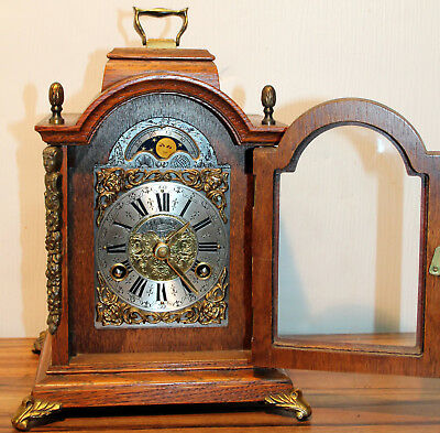 *Old Beautiful Table Clock Mantel clock with Moonphase * WUBA*WARMINK *