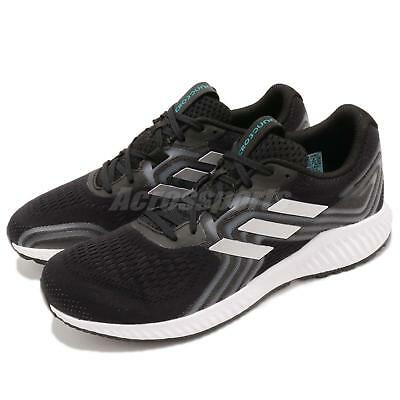84118cc918c adidas Aerobounce 2 M Black Silver Aqua White Men Running Shoes Sneakers  AQ0536