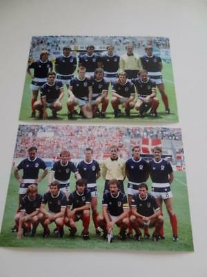 Scotland 1986 World Cup Team Photos Willie Miller Graeme Souness Gordon Strachan
