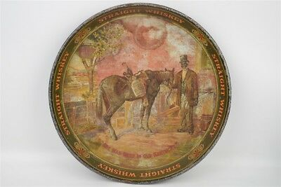 Antique Chas. W. Shonk Green River Whiskey Advertising Lithographed Tray 12""