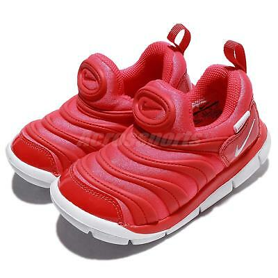 Nike Dynamo Free TD Bright Crimson White Toddler Infant Baby Shoes 343938 -624 f0ec6fe93