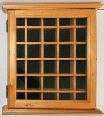 Shadow Box Wall Cabinet To Hold 110 Golf Balls Display W Glass