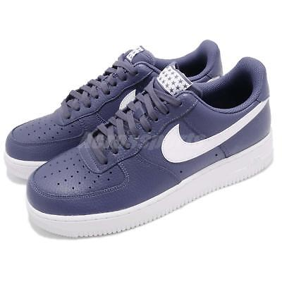 on sale c44f7 fa3d9 Nike Air Force 1 07 AF1 Blue Recall White Men Casual Shoes Sneakers  AA4083-401