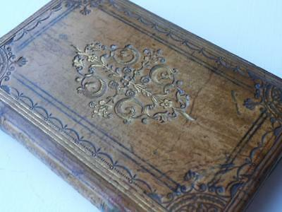 Super Little Antique Georgian Leather Book Pious Reflections For Every Day 1823