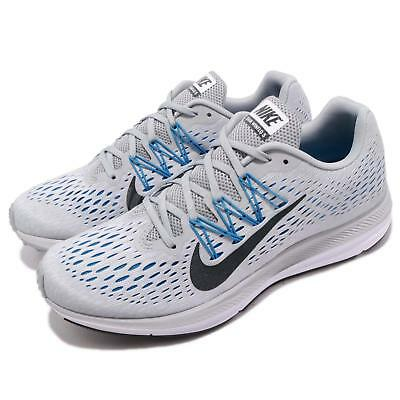 61c1e22a088ce Nike Zoom Winflo 5 V Grey Blue Anthracite Men Running Shoes Sneakers  AA7406-003