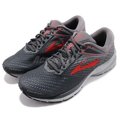 huge discount a9d8d 2df78 BROOKS LAUNCH 5 V Grey Red Men Marathon Running Shoes Sneakers 110278 1D