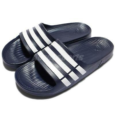 dc0526e7c4f4b adidas Duramo Slide Navy White Mens Womens Sports Slide Slippers Sandals  G15892
