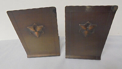 """Craftsman Studios, Pair Brass Bookends, Hand Made, 3"""" Across 4.5"""" Tall  Vintage"""
