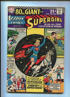 Action Comics #334 (4.0) 80 Page Giant Supergirl's First Romance - 1966
