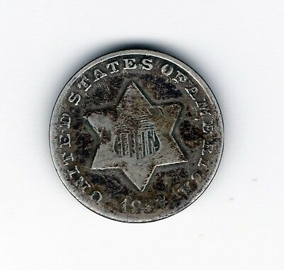 1853 Three Cent Silver Very Good