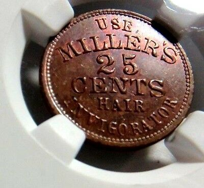 """"""" MILLERS HAIR INVIGORATOR """" NEW YORK 630AY - 1a - NGC MS - 64 - NO Reserve"""