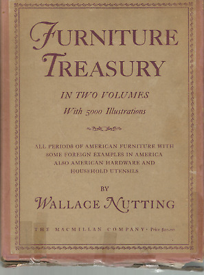 Furniture Treasury- 2 Vol.- 5,000 Illust- Wallace Nutting- 1948- Excellent Cond.