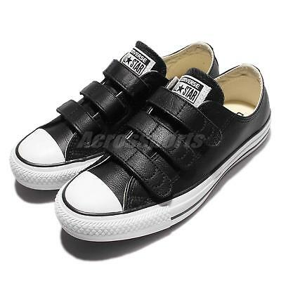 bba2aa3a0e69 Converse Chuck Taylor All Star V3 Strap Leather Black White Men Shoes 103838