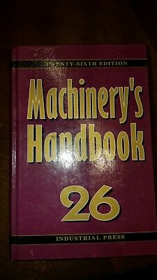 Machinery's Handbook 26 Industrial Press used 26th edition Hard cover good cond