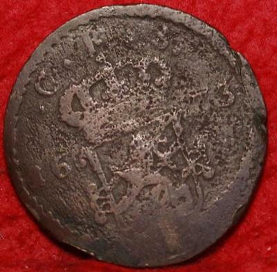1673 Sweden 1 Ore Foreign Coin