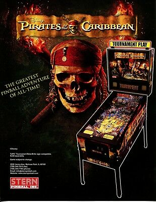 Pirates of the Caribbean Pinball Flyer Mint / Ad