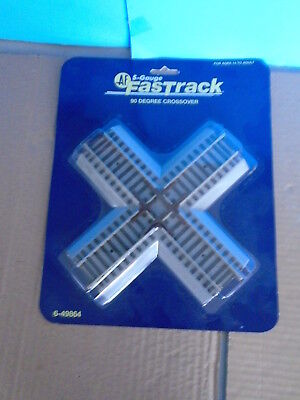American Flyer S Gauge 49864 Fastrack 90 Degree Crossover Track.. New