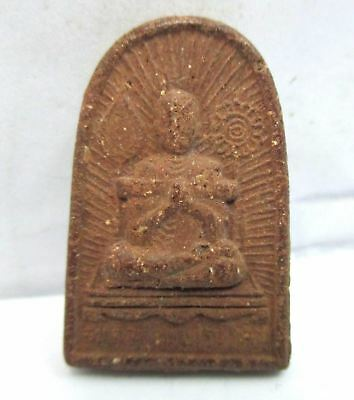 Old  Phra Somdej Lp.toh Back Power Blood Phra Taht Amulet Plate Pendant