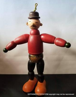 1930's 10 in Vintage WIMPY JOINTED WOOD Popeye Character DOLL~ KING FEATURE