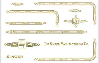 Custom Singer Featherweight 221 Sewing Machine Restoration Decals Paperclip